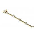 18Kt Two-tone Tennis Diamond Bracelet with Diamond Station in between (2.62cts tw)