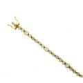 18Kt Two-tone Prong Set Diamond Bracelet (3.50cts tw)
