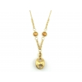 14Kt Yellow Gold Twisted Oval Link with Citrine Station and Gucci Drop (12.80gr)