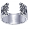 Sterling Silver Diamond Cuff Bangle (0.20cts tw)