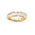 14Kt Yellow Gold Round Diamond Channel Set Wedding Band (1.00cts tw)