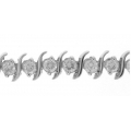 18Kt White Gold Diamond Wave Design Bracelet (3.83cts tw)