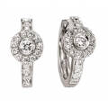 14Kt White Gold Circle Design Earrings (0.50cts tw)
