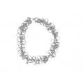 14Kt White Gold Multi Circle Fancy Bracelet (12.90gr)
