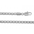 14Kt White Gold Puff Box Chain 135