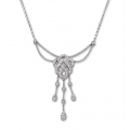 14Kt White Gold Diamond Interlaced Necklace (0.55cts tw)