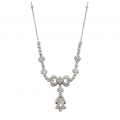14Kt White Gold Diamond Bow Necklace (0.45cts tw)