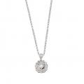 14Kt White Gold Bezel Set Diamond Circle Necklace (0.35cts tw)