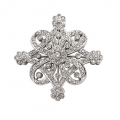 14Kt White Gold Antique Style Diamond Pin (1.00cts tw)