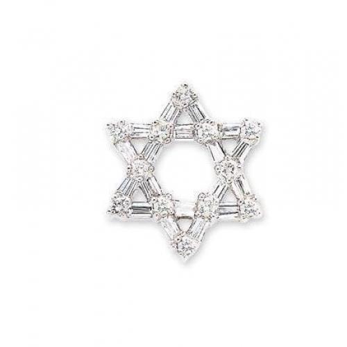 14kt white gold baguette round diamond star of david pendant 14kt white gold baguette round diamond star of david pendant 070cts tw aloadofball Choice Image