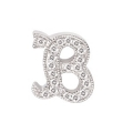 "14Kt White Gold Diamond Initial ""B"" Pendant (0.08cts tw)"