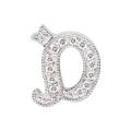 "14Kt White Gold Diamond Initial ""D"" Pendant (0.05cts tw)"