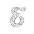 "14Kt White Gold Diamond Initial ""E"" Pendant (0.07cts tw)"