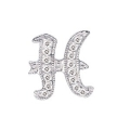 """14Kt White Gold Diamond Initial """"H"""" Pendant (0.06cts tw)"""