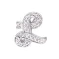 "14Kt White Gold Diamond Initial ""L"" Pendant (0.08cts tw)"