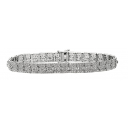 14Kt White Gold Antique Style Diamond Bracelet (2.35cts tw)