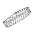 14Kt White Gold Diamond Lace Bracelet (6.30cts tw)