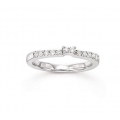 14Kt White Gold  Round Diamond Wedding Band (0.25cts tw)
