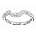 14Kt White Gold Pavé Diamond Wedding Band (0.35cts tw)