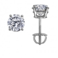 14Kt White Gold Diamond Stud Earrings (2.13cts tw)