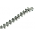 18Kt White Gold Diamond Almond Shape Bracelet (1.71cts tw)