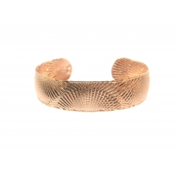 Rose Gold Plated Silver Cuff Bangle (11.50GR)
