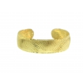 Yellow Gold Plated Silver Cuff Bangle (11.50GR)
