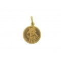 14Kt Yellow Gold Round Saint Christopher Pendant (2.00gr)